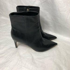Ivanka Trump black leather ankle booties Sz 8